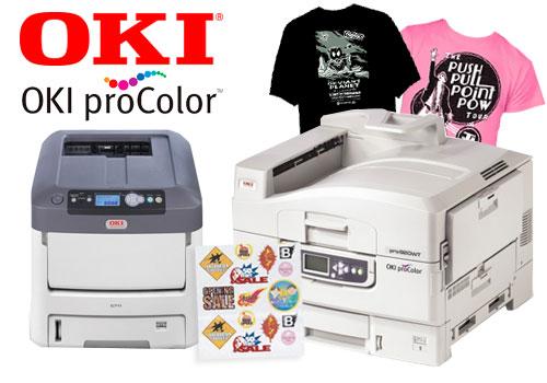 OKI White Toner Laser Heat Transfer Printers - OKI pro 920WT and C711WT